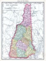 New Hampshire, World Atlas 1913